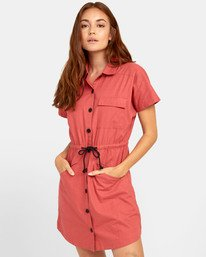 0 EDUCATE SHIRT DRESS Red WD081RED RVCA