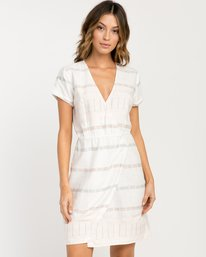 0 Rose Striped Wrap Dress  WD10PRRO RVCA
