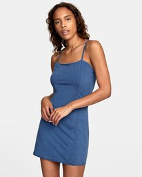 0 Mosaic Knit Tank Dress Blue WD10VRMO RVCA