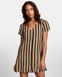 0 Pebble Button-Up Dress Black WD10VRPE RVCA