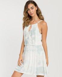 0 Bay Oblow Printed Dress Blue WD11PRBA RVCA
