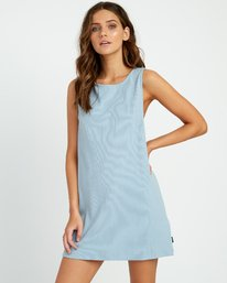 0 On The Fence Shift Dress Blue WD11URON RVCA