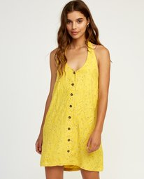 0 90s Baby Halter Dress Yellow WD13TR90 RVCA
