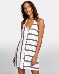 0 90s Baby Halter Dress White WD13TR90 RVCA