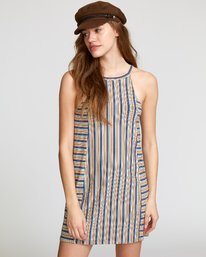 0 Bailey Striped Knit Dress Brown WD17VRBS RVCA