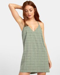 0 ADIOS TANK DRESS Green WD181RAD RVCA
