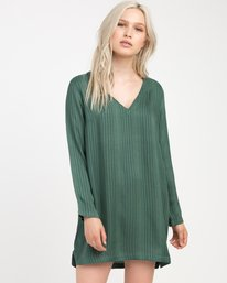 0 Foxy Lady Striped Shirt Dress  WD20NRFO RVCA