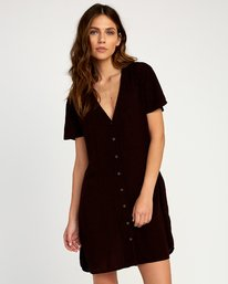 0 Benji Button-Up Dress Brown WD95TRBD RVCA
