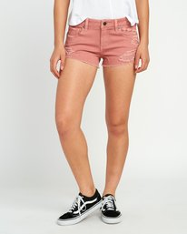 0 Hello Mellow Denim Cutoff Shorts Brown WF206HEL RVCA