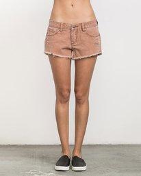 0 Hello Mellow Denim Cutoff Shorts Orange WF206HEL RVCA