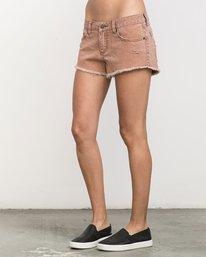 2 Hello Mellow Denim Cutoff Shorts  WF206HEL RVCA