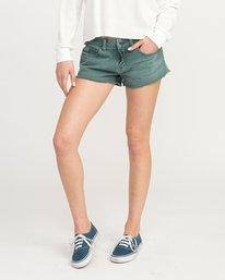 0 Hello Mellow Denim Cutoff Shorts Green WF206HEL RVCA