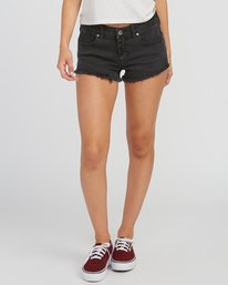 0 Hello Mellow Denim Cutoff Shorts Black WF206HEL RVCA