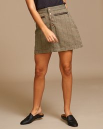 0 Natwest High Rise Skirt Brown WK01VRNA RVCA