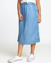 0 Jinn Woven Midi Skirt Blue WK01WRJI RVCA
