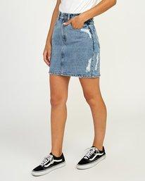 0 Jolt High Waist Denim Skirt Blue WK06QRJO RVCA