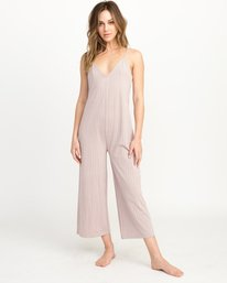 0 Bounce Wide Leg Lounge Jumpsuit Multicolor WL04QRBO RVCA