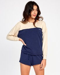 0 Sophmore Fleece Pullover Blue WL04VRSO RVCA