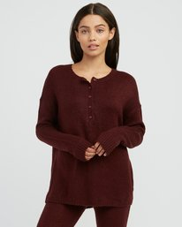 0 Urboyfriends Knit Henley Sweater  WL06SRUR RVCA