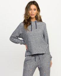 0 Leave It Ribbed Fleece Sweatshirt Blue WL07QRLE RVCA