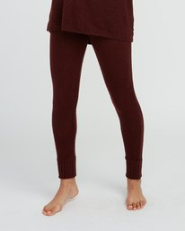 0 Creepin Sweater Knit Leggings Pink WL07SRCR RVCA