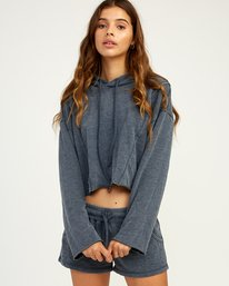 0 Ava Cropped Fleece Pullover Blue WL07TRAC RVCA