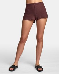 0 Balboa Thermal Knit Shorts Brown WL09WRBA RVCA