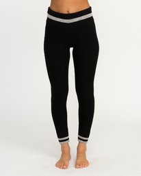 0 Loomed Knit Leggings Black WLL02LOM RVCA
