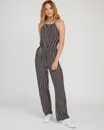 0 Hush Striped Jumpsuit Grey WN01SRHU RVCA