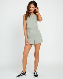 0 Monsoon Knit Romper Green WN01URMO RVCA