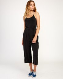 0 Jarvis Knit Jumpsuit Black WN08TRJJ RVCA