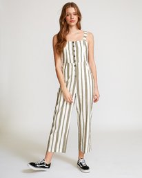 0 Stunnah Striped Jumpsuit Green WN09VRST RVCA