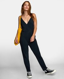 0 CITRA KNIT JUMPSUIT Black WN101RCI RVCA