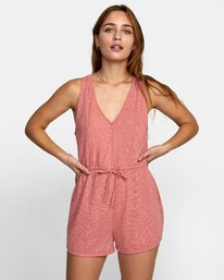 0 RIGHTEOUS KNIT ROMPER Red WN111RRI RVCA
