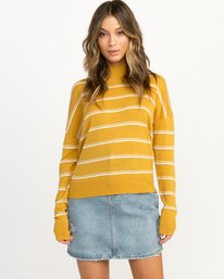 0 Armed Striped Sweater Multicolor WV01QRAR RVCA