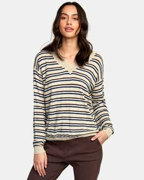 0 Abundant Lightweight Sweater Brown WV01WRAB RVCA