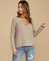 0 Case Knit Keyhole Sweater Brown WV02QRCA RVCA