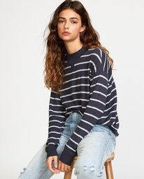 0 Tristan Striped Sweater Black WV02VRTR RVCA