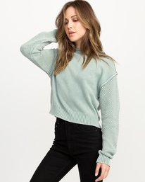 0 Exposed High Neck Sweater  Blue WV05QREX RVCA