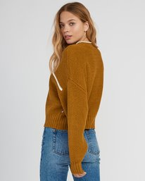 1 Jammer Cropped Knit Sweater  WV05SRJA RVCA