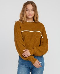 0 Jammer Cropped Knit Sweater Yellow WV05SRJA RVCA