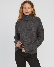 0 Jinx Knit Tunic Sweater Grey WV06SRJI RVCA
