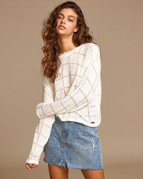 0 Range Lightweight Knit Sweater White WV07VRRA RVCA