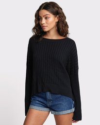 0 SYDNEY SWEATER Black WV093RSY RVCA