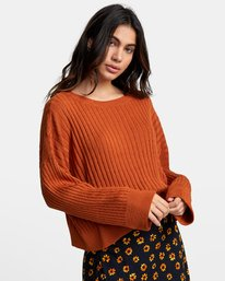 0 SYDNEY SWEATER Orange WV093RSY RVCA