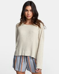 0 SYDNEY SWEATER Brown WV093RSY RVCA