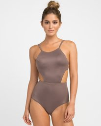 0 Solid One Piece Swimsuit Brown X101NRSO RVCA