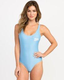 0 Shark One Piece Swimsuit Blue X102PRSO RVCA
