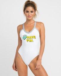 0 Real Talk One Piece Swimsuit White X103NRPO RVCA