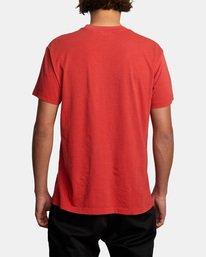 2 Evan Mock RVCA Punch - T-shirt pour Homme Rouge X1SSRHRVS1 RVCA
